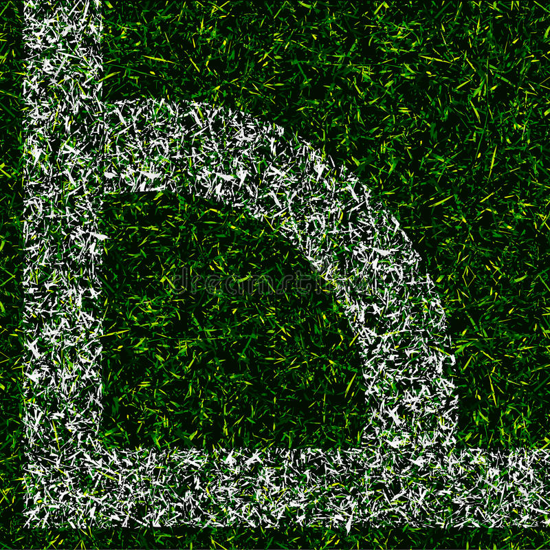 Download Corner Kick Grass Background Stock Vector - Illustration: 38884629