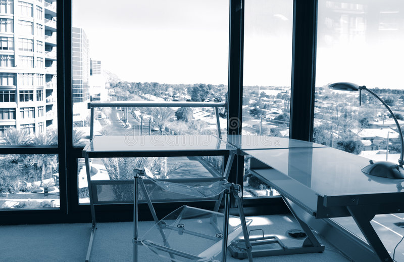 Download Corner Office View stock photo. Image of indoors, cityscape - 1861208
