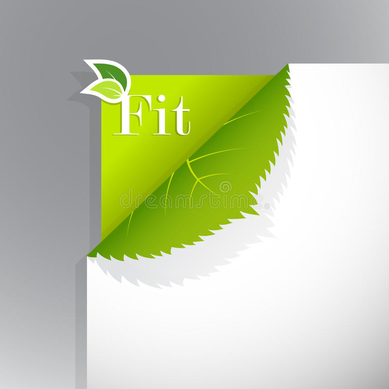 Corner on paper with fit sign.