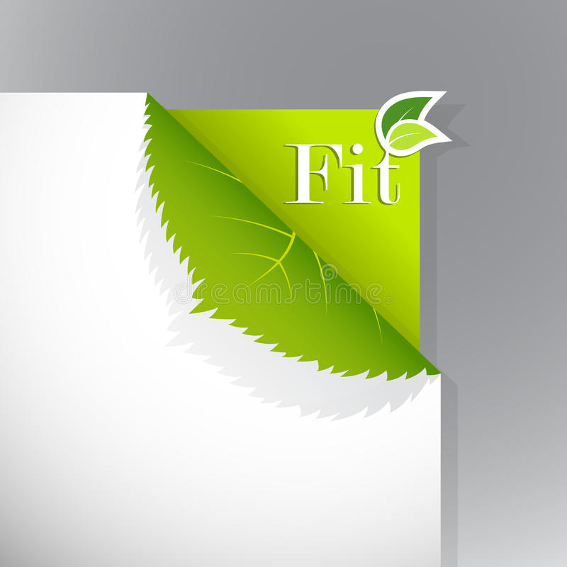 Download Corner On Paper With Fit Sign. Stock Photography - Image: 17538162