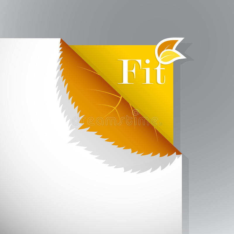 Download Corner On Paper With Fit Sign. Stock Vector - Image: 17796389