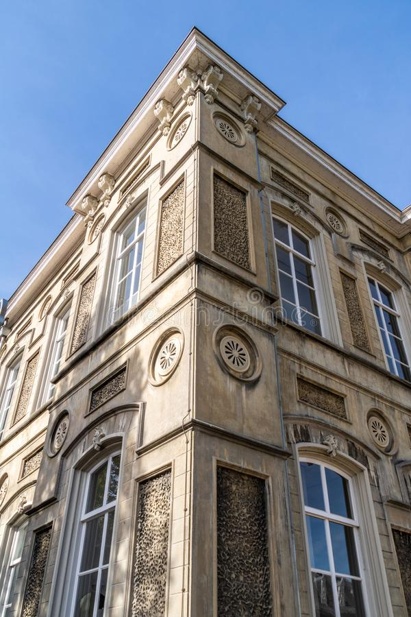 A corner part of an Italian style building apartment royalty free stock photo