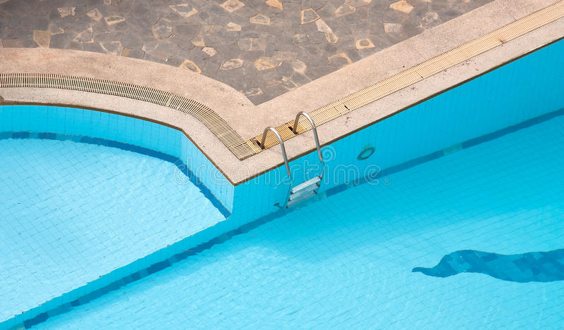 Corner of the pool royalty free stock photo
