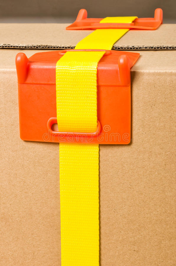 Corner protection. Load securing - A corner protection royalty free stock image