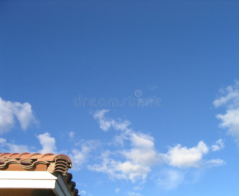 Corner of Real Estate and Sky royalty free stock images