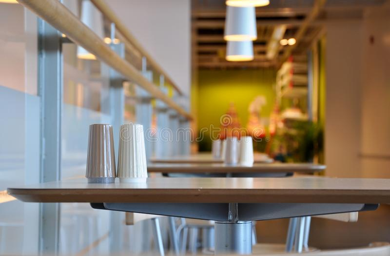 The corner of restaurant. In Vancouver royalty free stock images