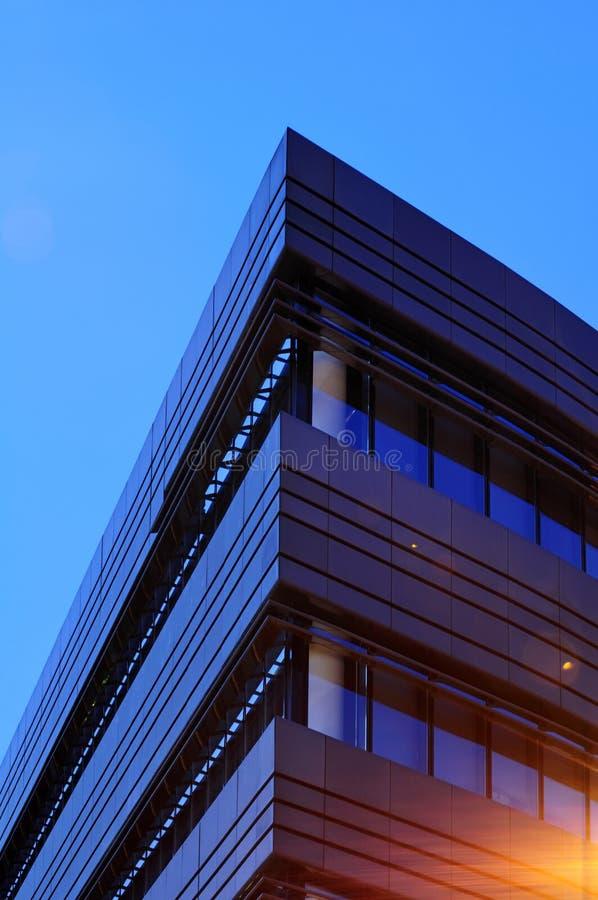 Corner side a modern building stock images