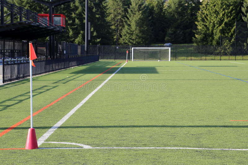Corner of the soccer field. Corner of the flag of a soccer field royalty free stock image