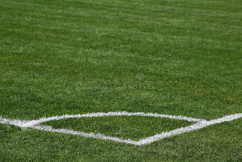 Download Corner of soccer pitch stock image. Image of game, outdoors - 19967953