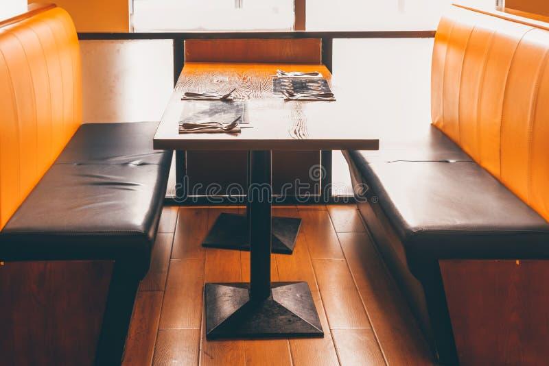 Corner of the restaurant royalty free stock image