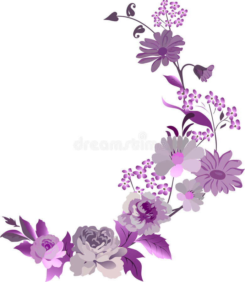 Free Corner With Pink Flowers Royalty Free Stock Images - 6269199