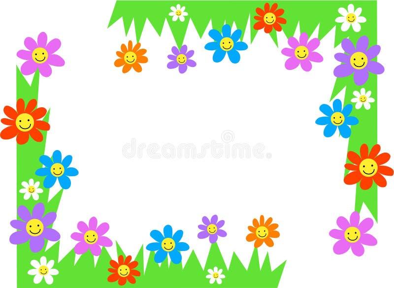 corners blom- royaltyfri illustrationer