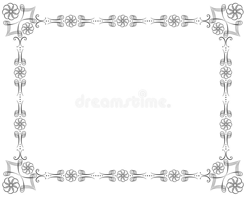 Download Corners and borders stock vector. Image of award, floral - 8084198