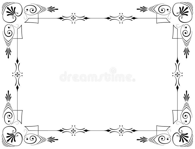 Download Corners and borders stock vector. Image of floral, menu - 8115217