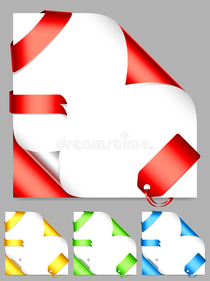 Corners And Ribbons. Stock Image