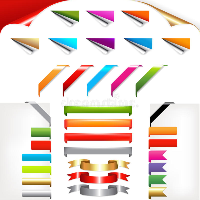 Corners And Ribbons. Vector stock illustration