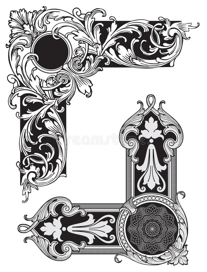 Corners vector. Vector illustration of ornate corners