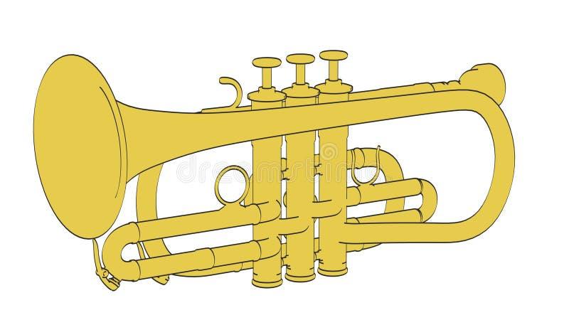 Cornet. 2d cartoon illustraion of cornet royalty free illustration