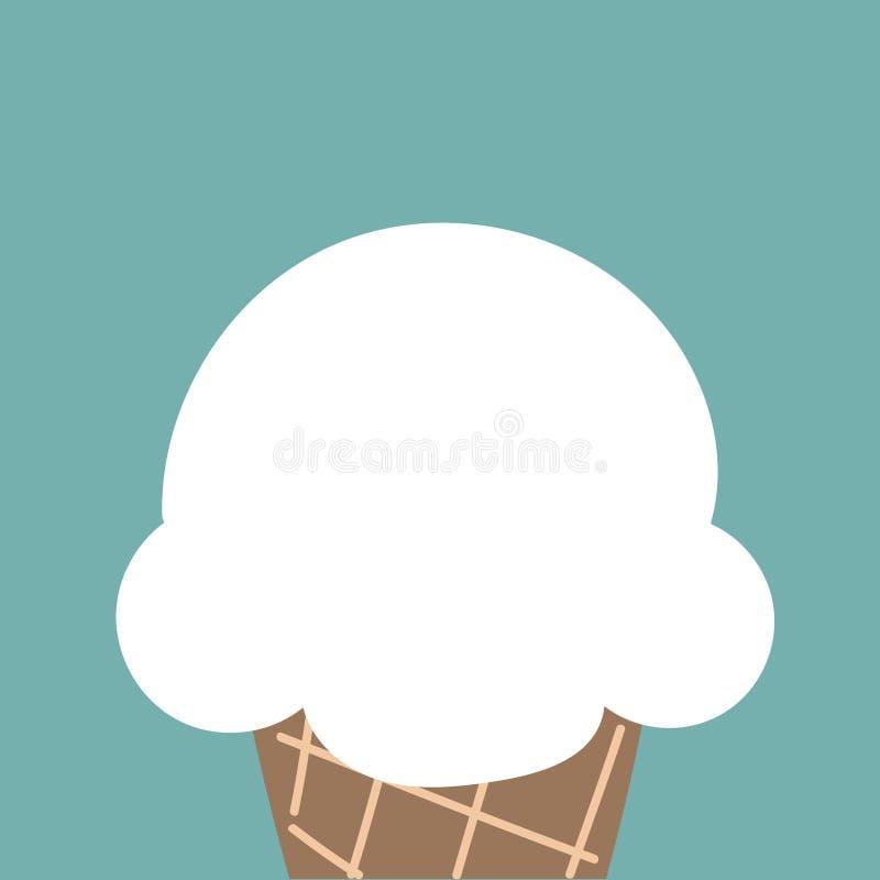 Download Cornet De Crème Glacée Blanc Mignon De Nuage Illustration Stock - Illustration du cône, différent: 87706290