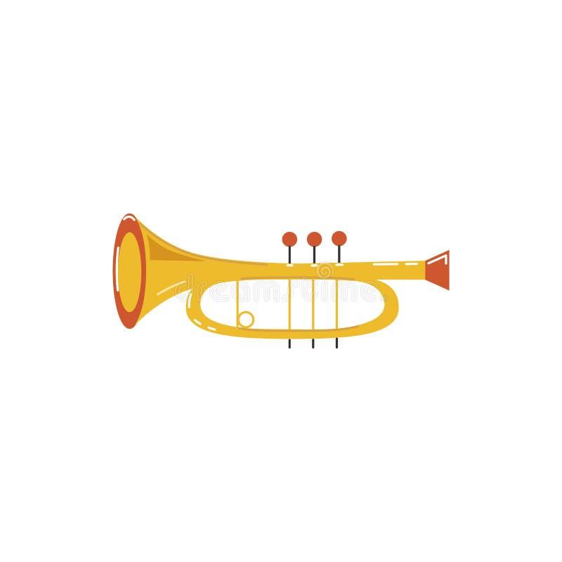 Cornet or horn icon isolated on background. Flat style. Vector illustration stock illustration
