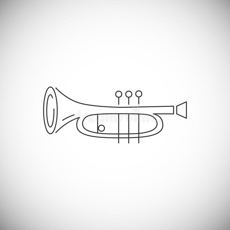 Cornet or horn icon isolated on white background. Line style. Vector illustration vector illustration