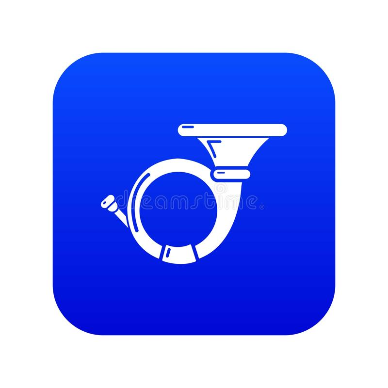 Cornet icon blue vector. Isolated on white background stock illustration