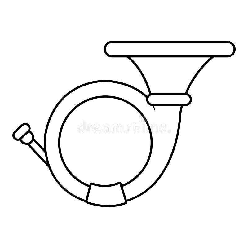 Cornet icon , outline style. Cornet icon. Outline illustration of cornet vector icon for web design isolated on white background royalty free illustration