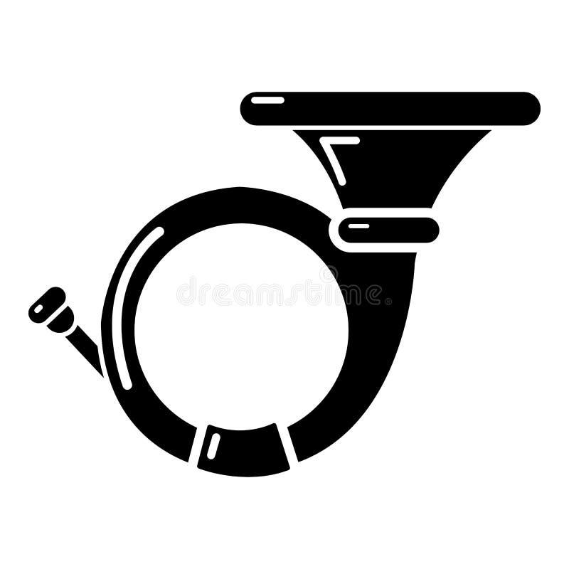 Cornet icon , simple style. Cornet icon . Simple illustration of cornet vector icon for web design isolated on white background royalty free illustration