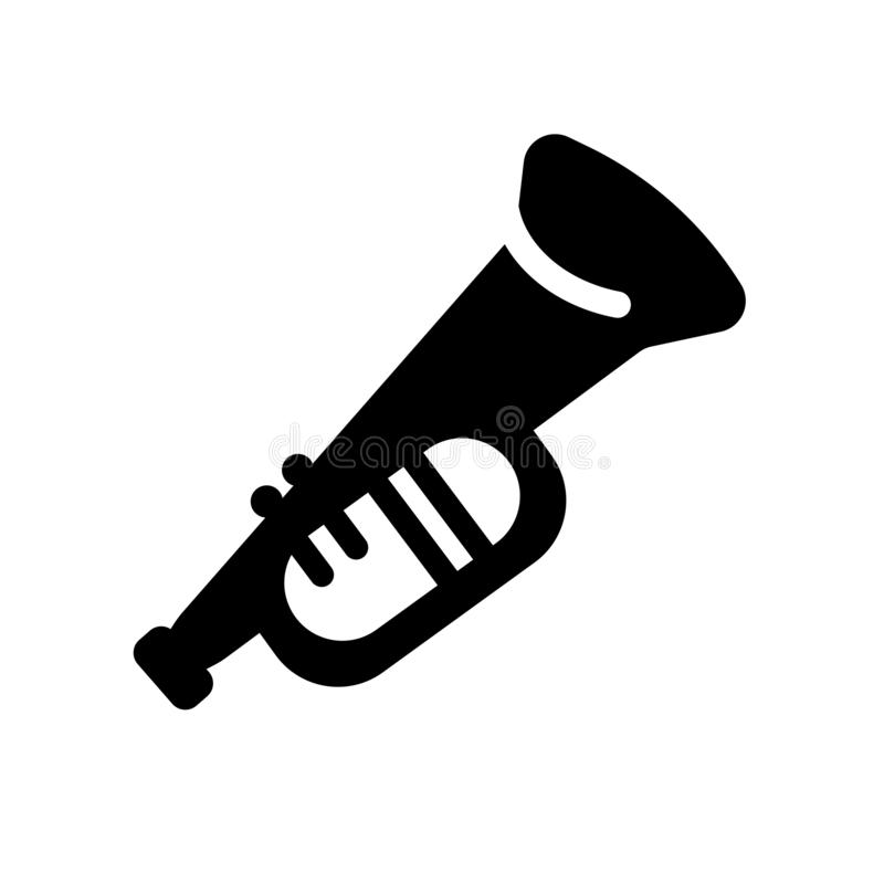 Cornet icon. Trendy cornet logo concept on white background from. Music collection. Suitable for use on web apps, mobile apps and print media stock illustration