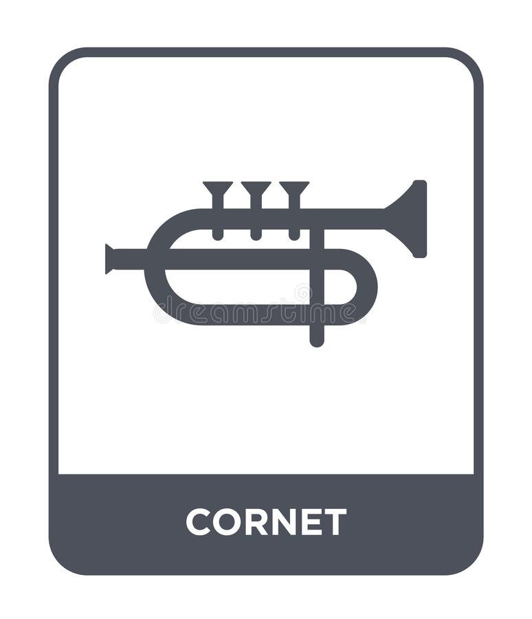 Cornet icon in trendy design style. cornet icon isolated on white background. cornet vector icon simple and modern flat symbol for. Web site, mobile, logo, app vector illustration
