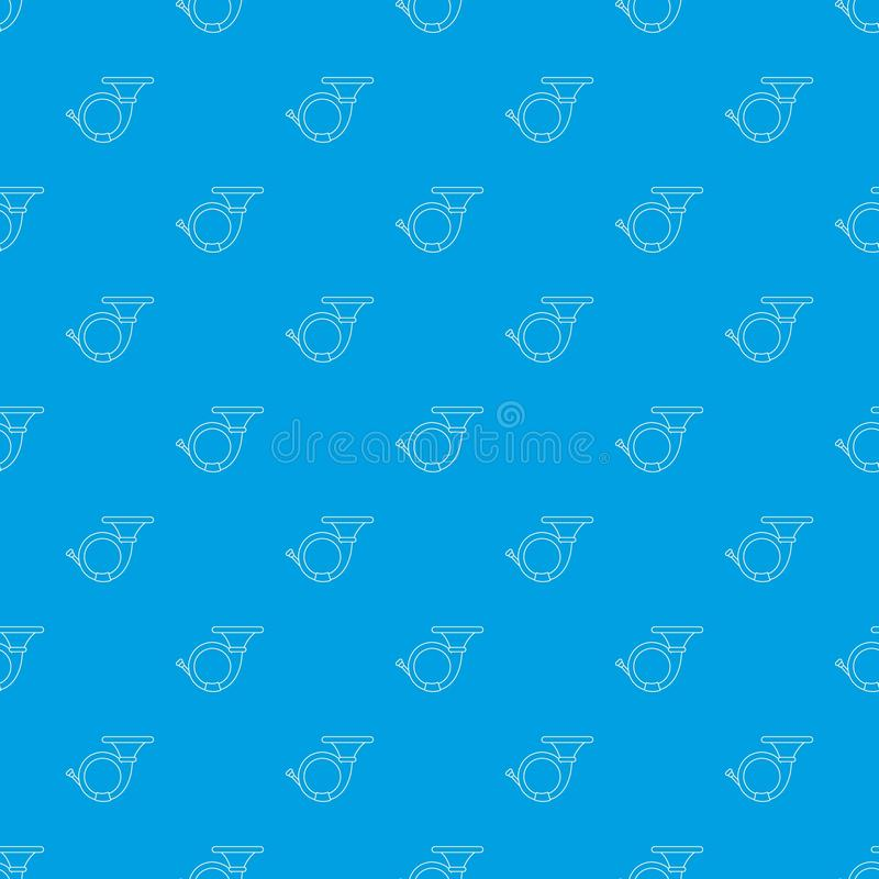 Cornet pattern vector seamless blue. Repeat for any use vector illustration