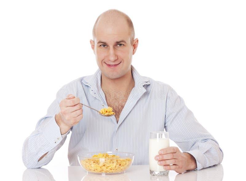 Cornflakefrukost. royaltyfri bild