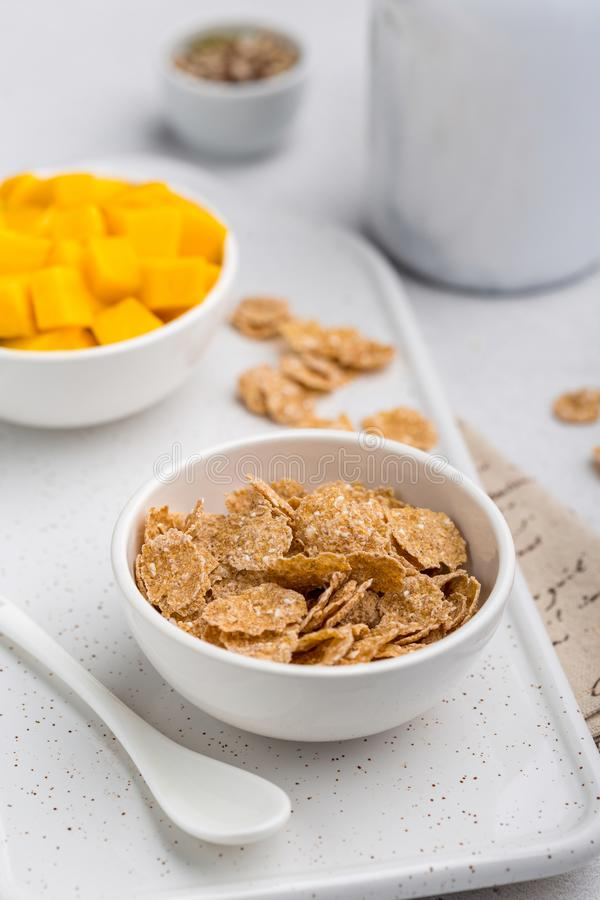 Cornflakes for breakfast stock photography