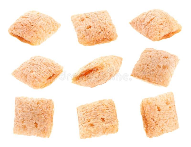 Cornflakes Cube Stock Photography