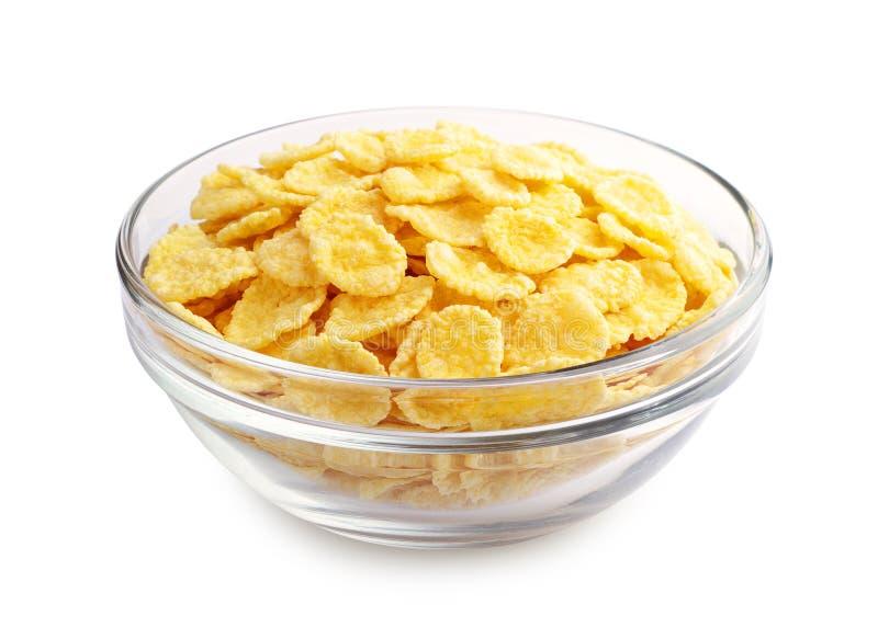 Cornflakes dans la tasse photos stock