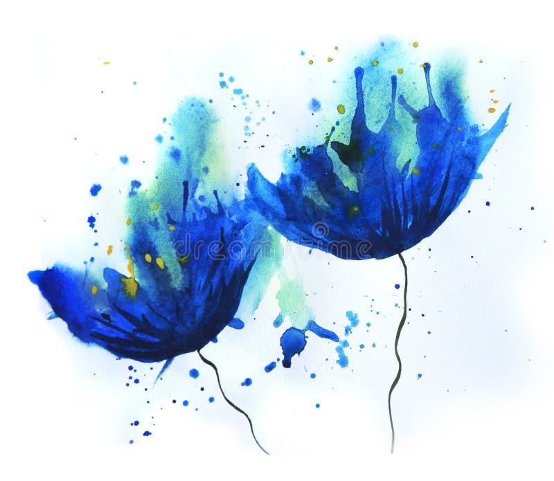 Cornflower акварели иллюстрация штока