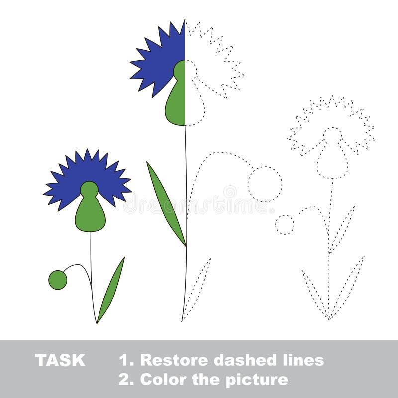 Cornflower, который нужно покрасить Игра трассировки вектора бесплатная иллюстрация