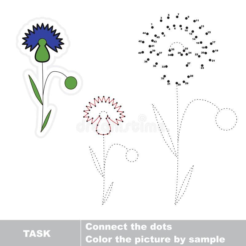 Cornflower, который нужно следовать Манипуляция цифрами вектора бесплатная иллюстрация