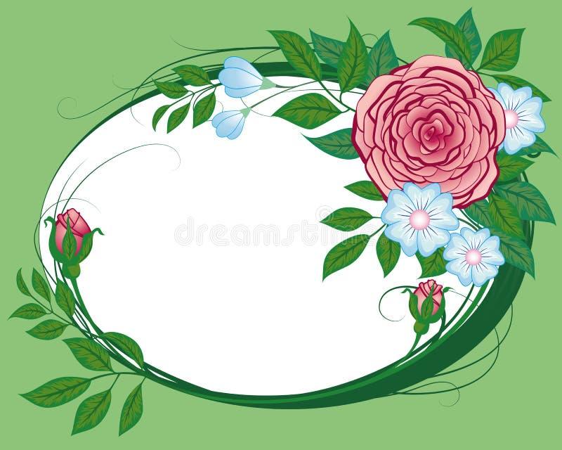 Cornflowers e rose astratti, la scenetta illustrazione vettoriale