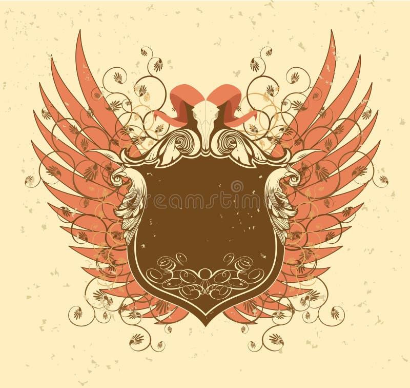 Corni ed ali. royalty illustrazione gratis