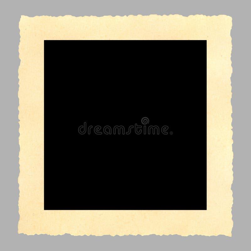 Cornice in bianco dell'annata, deckle orlato immagine stock