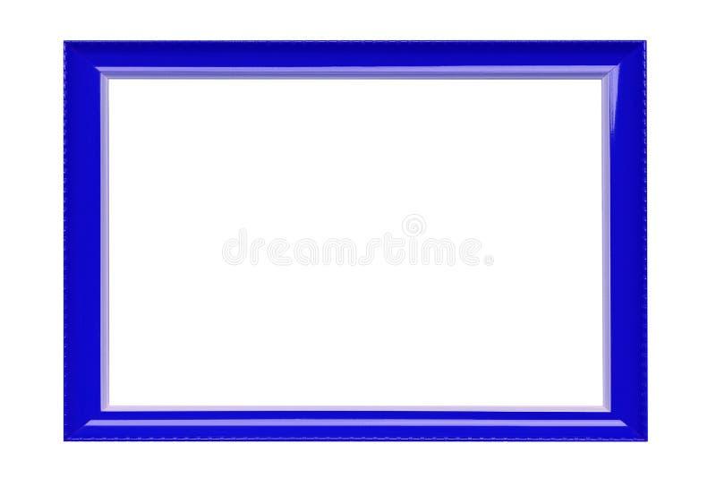 Cornice blu isolata su fondo bianco fotografia stock libera da diritti