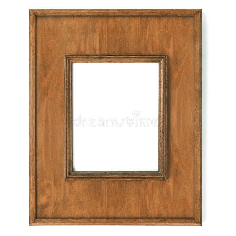 Cornice d'annata, legno placcato immagini stock