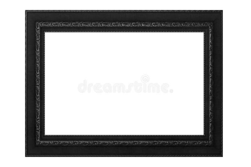 Cornice d'annata nera isolata su fondo bianco immagini stock libere da diritti