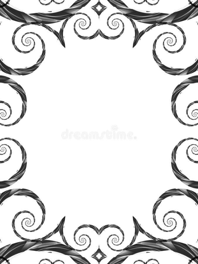 Cornice decorativa della foto illustrazione vettoriale
