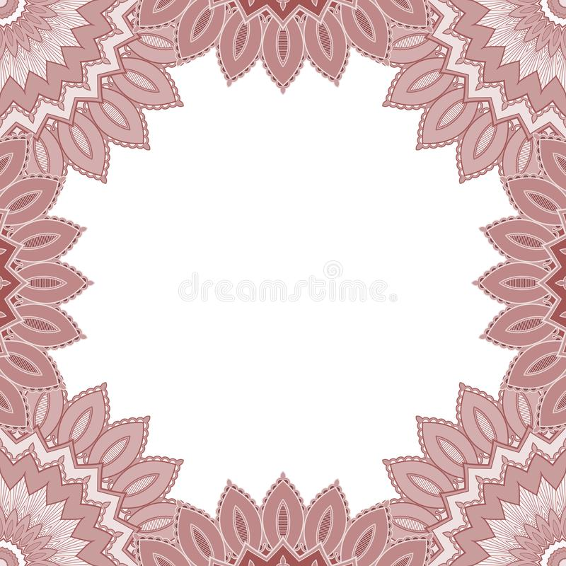 Cornice decorativa etnica illustrazione di stock