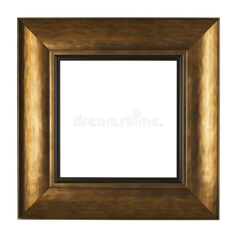 Cornice dell'oro isolata su fondo bianco immagine stock libera da diritti