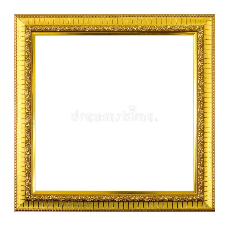 Cornice dell'oro isolata su fondo bianco illustrazione vettoriale