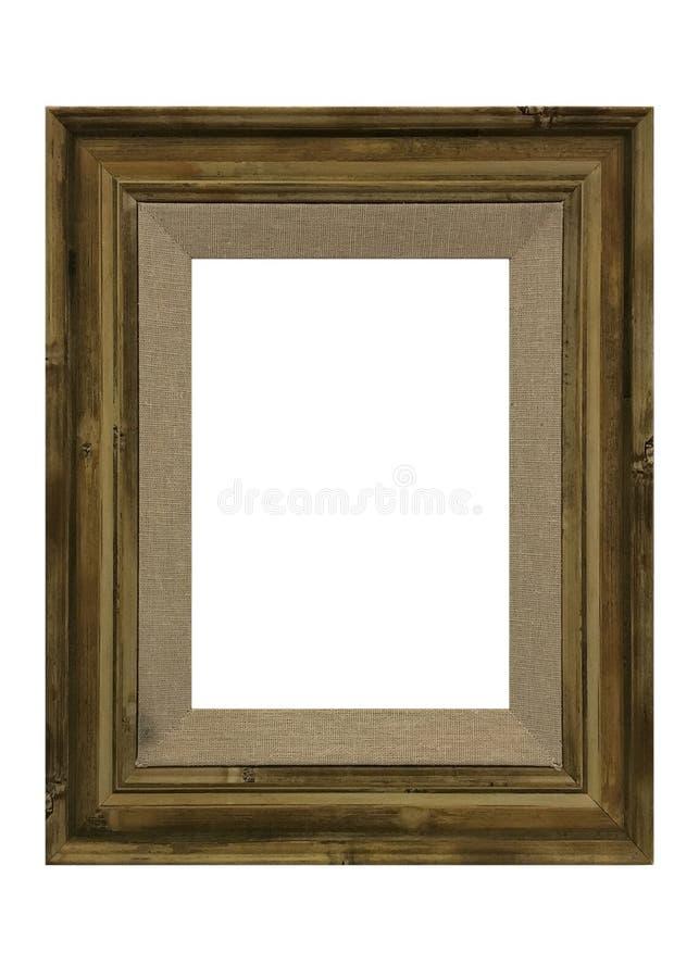 Cornice di legno isolata su priorità bassa bianca fotografie stock