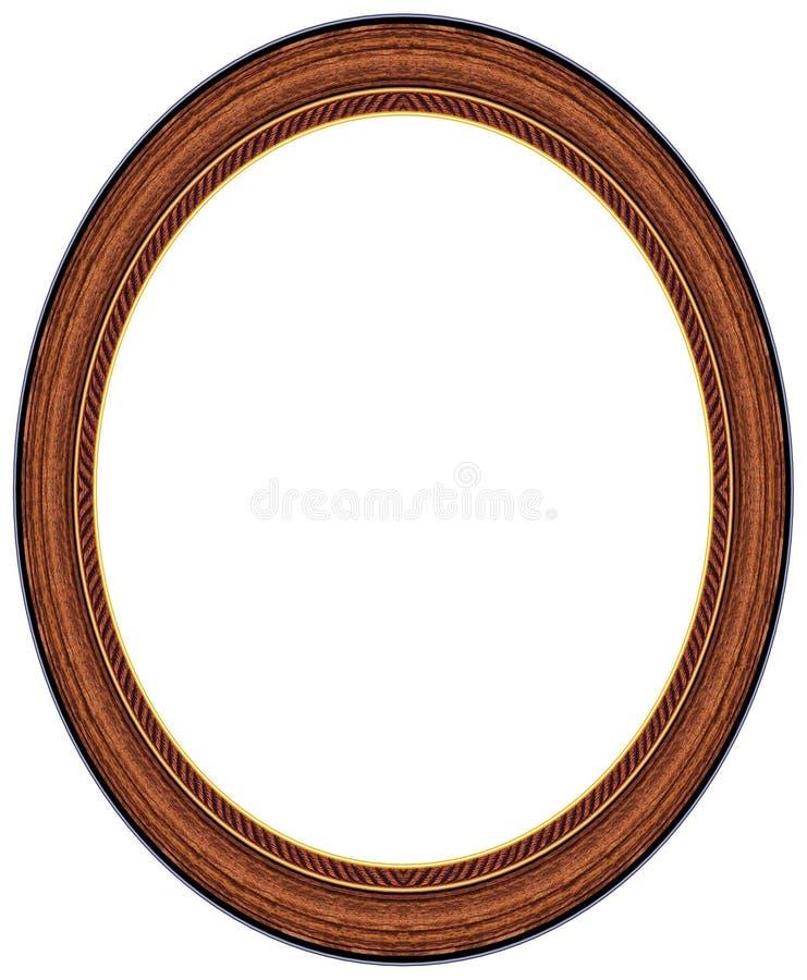 Cornice di legno ovale fotografia stock libera da diritti